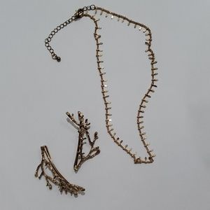 Necklace and Hair Pins